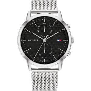 TOMMY HILFIGER Analogové hodinky 'EASTON'  stříbrná / černá