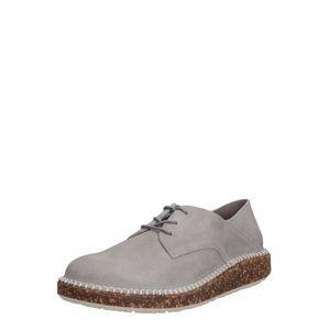 BIRKENSTOCK Šněrovací boty 'Gary Suede'  světle šedá