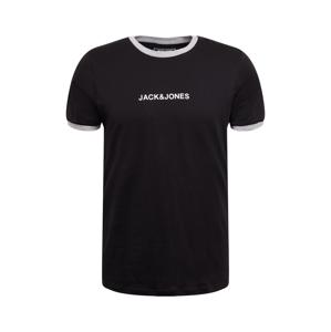 JACK & JONES Tričko 'Coring'  černá / bílá