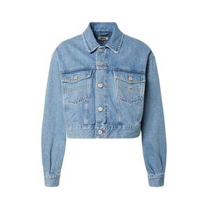 Tommy Jeans Přechodná bunda 'CROPPED TRUCKER'  modrá džínovina