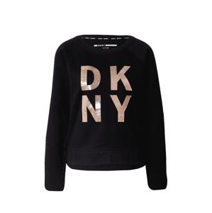 DKNY Performance Mikina  černá / zlatá