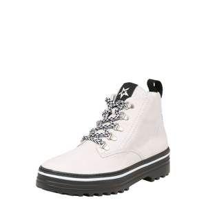 Paul Green Šněrovací boty  světle šedá / černá