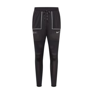 NIKE Sportovní kalhoty 'Phenom'  stříbrná / černá