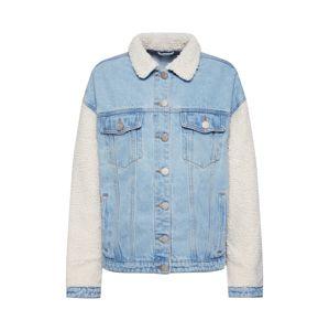 GLAMOROUS Přechodná bunda  béžová / modrá džínovina