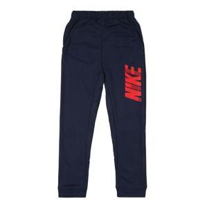 NIKE Sportovní kalhoty  námořnická modř / světle červená