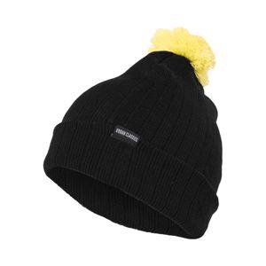 Urban Classics Čepice  černá / svítivě žlutá