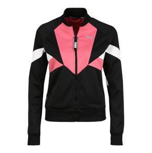 PUMA Sportovní bunda  pink / černá