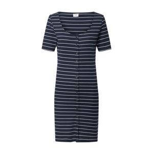 JACQUELINE de YONG Letní šaty 'JDYNEVADA LIFE S/S BUTTON DRESS JRS 0520'  modrá / bílá