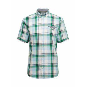 TOM TAILOR Košile  azurová / šedá / zelená