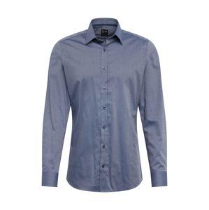 OLYMP Společenská košile 'Level 5 Struktur'  námořnická modř