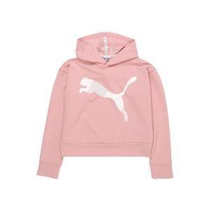 PUMA Sportovní mikina  růžová / bílá