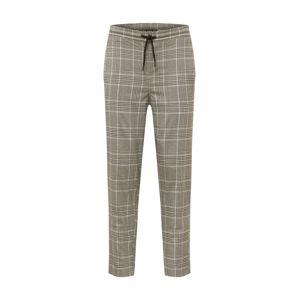 Urban Classics Kalhoty  šedá / černá / bílá