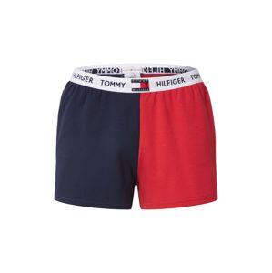 TOMMY HILFIGER Pyžamové kalhoty  červená / bílá / tmavě modrá