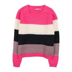 KIDS ONLY Svetr 'MALONE'  pink / bílá / černá / starorůžová