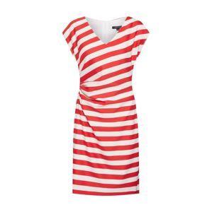COMMA Letní šaty  bílá / červená