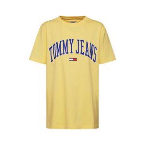 Tommy Jeans Oversized tričko 'TJW COLLEGIATE LOGO TEE'  tyrkysová / žlutá
