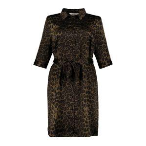 Studio Untold Košilové šaty 'Leo'  černá / hnědá