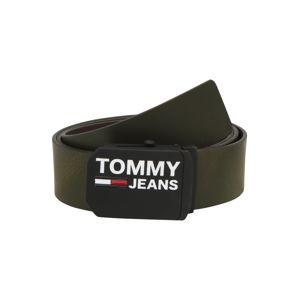 Tommy Jeans Opasek 'TJM PLAQUE 4.0'  olivová