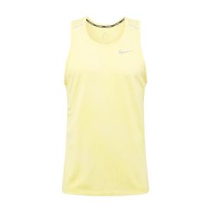 NIKE Funkční tričko 'Miler'  svítivě žlutá / světle šedá