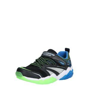 SKECHERS Tenisky 'Lighted Gore & Strap'  černá / modrá / svítivě zelená