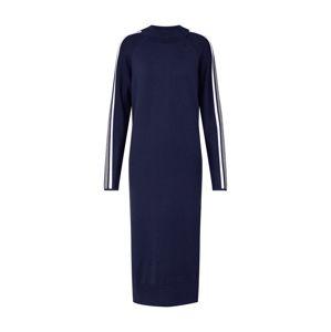EDC BY ESPRIT Úpletové šaty 'mock neck sweat'  námořnická modř