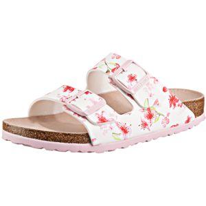 BIRKENSTOCK Pantofle  bílá / světle zelená / pink
