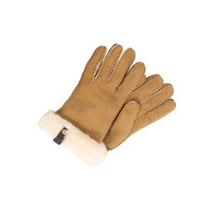 UGG Prstové rukavice 'Shorty Glove with leather trim'  cappuccino
