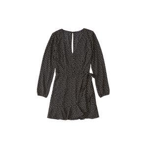 Abercrombie & Fitch Letní šaty 'XM19-WRAP LACE PIECED PRINT DRESS 2CC'  černá