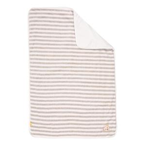 Steiff Collection Dětská deka  světle šedá / bílá