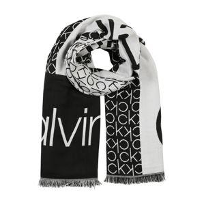 Calvin Klein Šála 'CK JAQUARD SCARF'  černá