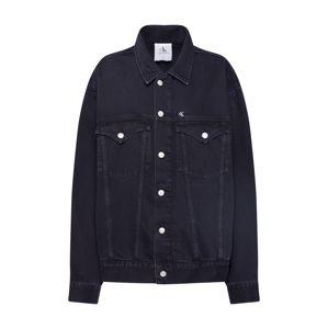 Calvin Klein Jeans Přechodná bunda 'OVERSIZED FOUNDATION'  černá džínovina