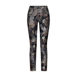 PLEASE Kalhoty 'trousers'  béžová / černá