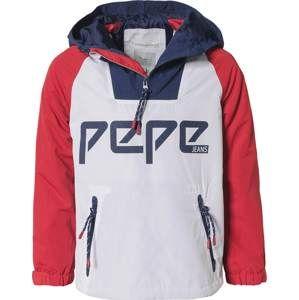 Pepe Jeans Přechodná bunda 'Hampshire'  námořnická modř / červená / bílá