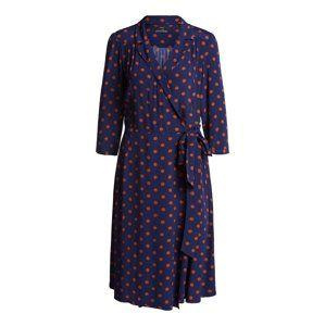 SET Letní šaty  hnědá / námořnická modř