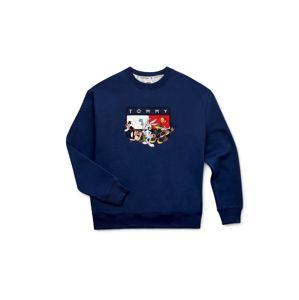 Tommy Jeans Mikina 'LOONEY TUNES'  bílá / tmavě modrá / červená