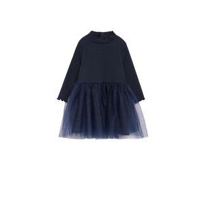 MANGO KIDS Šaty 'Boston'  námořnická modř
