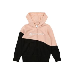 Champion Authentic Athletic Apparel Mikina 'Hooded Full Zip Sweatshirt'  růže / černá