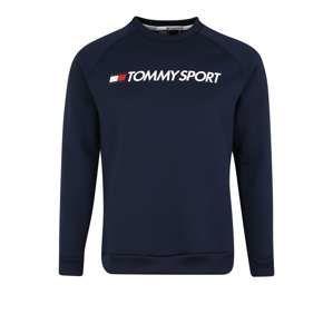 Tommy Sport Sportovní mikina 'FLEECE LOGO CREW NECK'  marine modrá