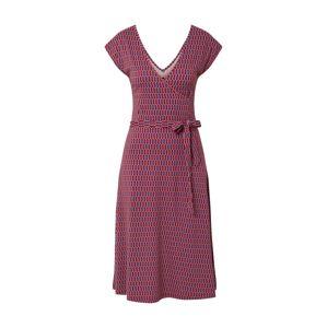 King Louie Šaty 'Mira Dress Friuli'  offwhite / ohnivá červená / azurová
