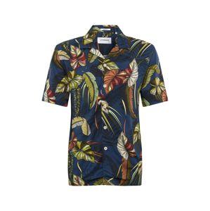 Lindbergh Košile 'Resort viscose print shirt S/S'  mix barev / modrá