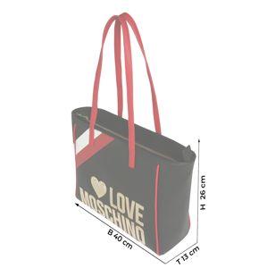 Love Moschino Nákupní taška 'BORSA PEBBLE'  černá / červená