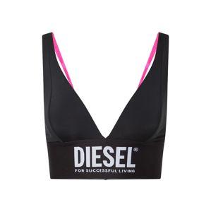 DIESEL Podprsenka  černá / bílá / pink