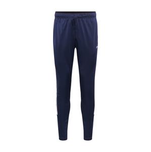 REEBOK Sportovní kalhoty  modrá / bílá / černá