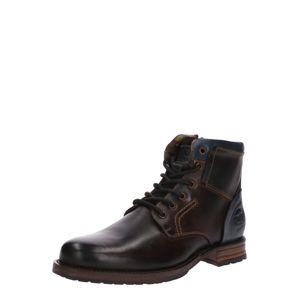 Dockers by Gerli Šněrovací boty  tmavě hnědá / tmavě modrá