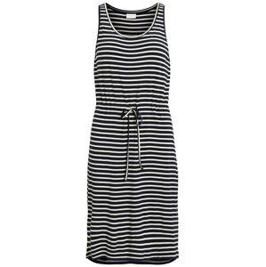 VILA Letní šaty  tmavě modrá / bílá