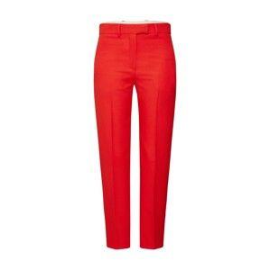 Calvin Klein Kalhoty s puky 'UNIFORM TWILL CIGARETTE PANT'  červená