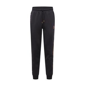 PUMA Sportovní kalhoty  černá / zlatě žlutá