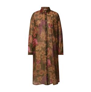 Mes Demoiselles Košilové šaty 'Amaranto'  mix barev / khaki