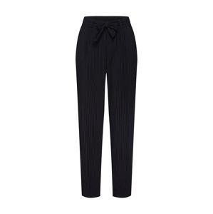 JACQUELINE De YONG Chino kalhoty 'JDYOMA BELT PANT WVN'  černá / bílá
