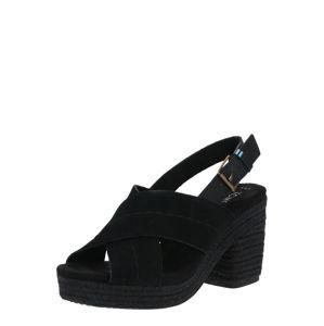 TOMS Páskové sandály 'IBIZA'  černá